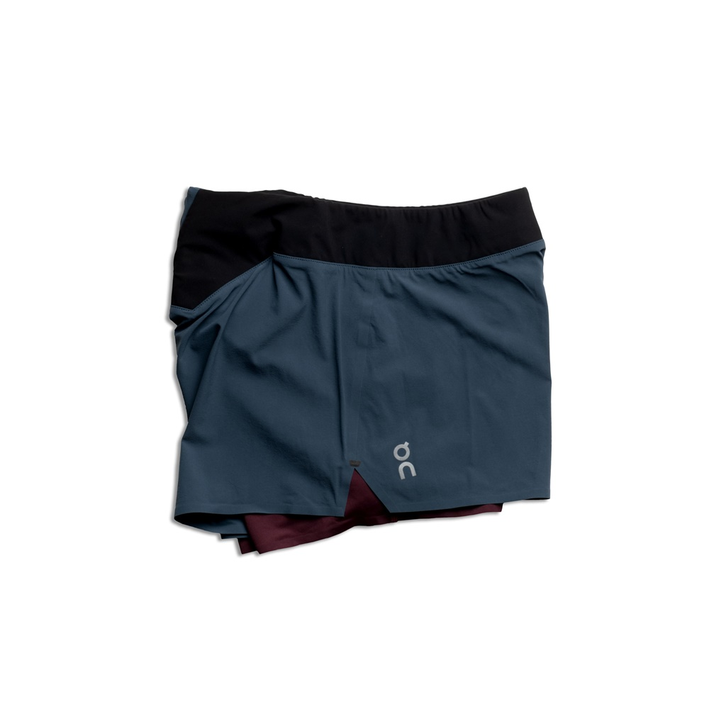 【WOMEN'S】On Running Shorts Navy/Mulberry
