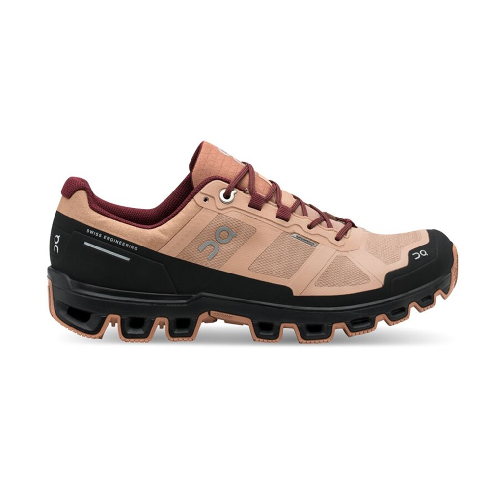 【WOMEN'S】On Cloudventure Waterproof Rosebrown/Mulberry