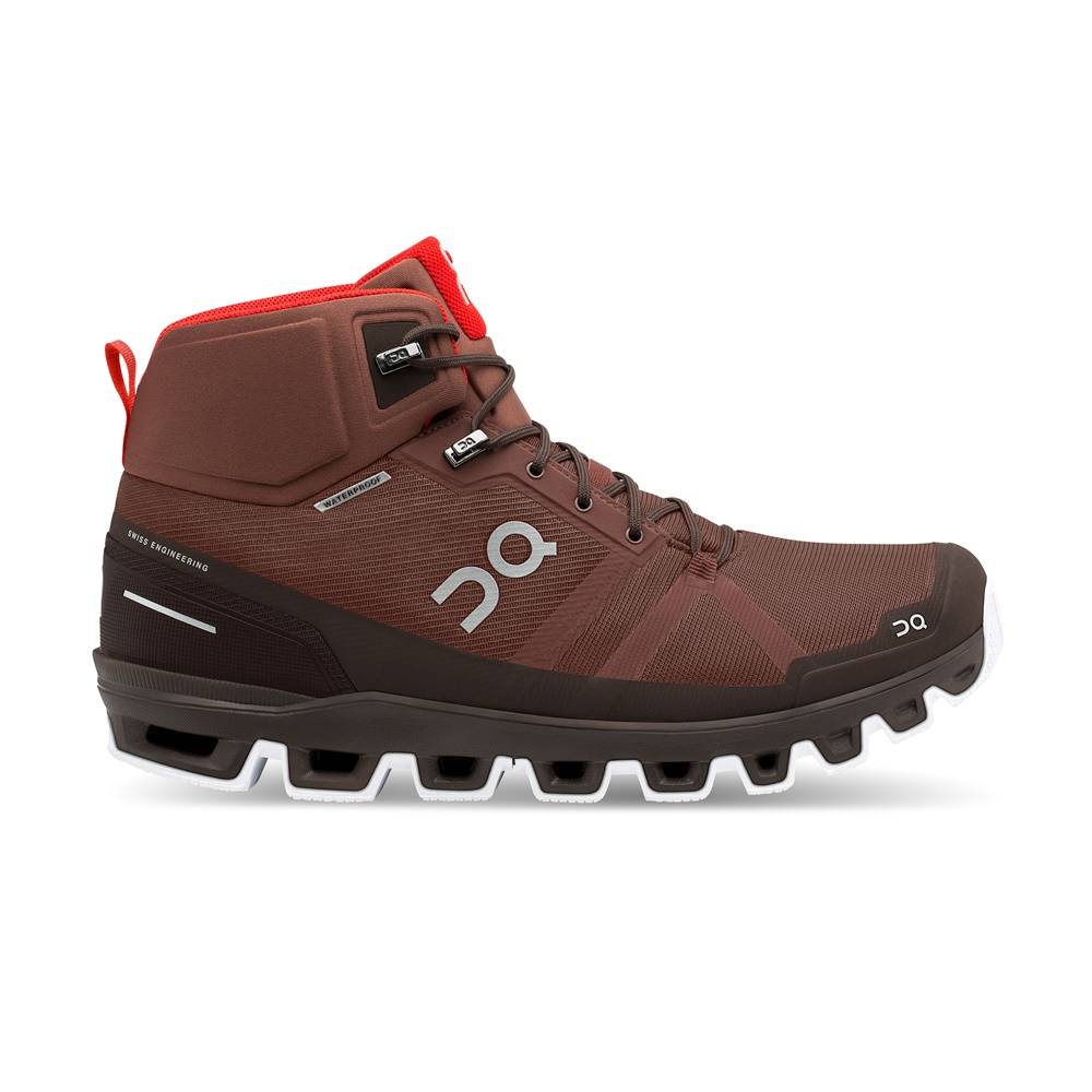 【MEN'S】On Cloudrock Waterproof Cocoa/Red